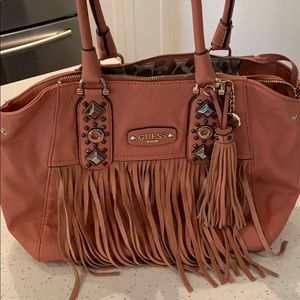 Guess bag with fringe trim